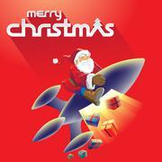 Merry Christmas and Santa Stock Illustration Stock Illustration