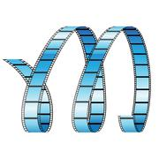 Curly Film Reel Forming Letter M Stock Illustration