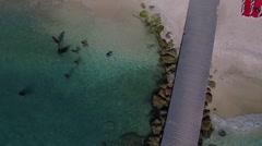 Aerial of Portmarie, Curacao Stock Footage