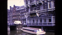 1967: a historical and elegant hotel next to the river in venice city AMSTERDAM Stock Footage