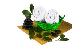 Spa product concept isolated on white Stock Photos