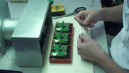 Circuit Board Assembly Stock Footage
