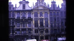 1967: a beautiful historic building featuring lots of ornate architectural Stock Footage