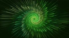 Particle Flower Tunnel Looping-Green Stock Footage