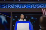 Hillary Clinton speech Stock Photos