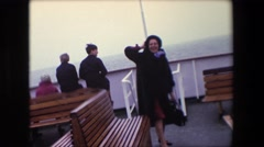 1967: out on the boat during a windy day. CALAIS, FRANCE Stock Footage