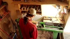 Lathe wood Stock Footage