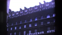 1969: an amazing view of one of the best and ancient hotel downtown LONDON Stock Footage