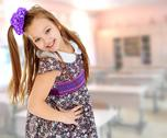 Beautiful little girl with long hair Stock Photos