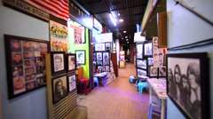 Artists sell their paintings and pictures in special pavillion. Kuala Lumpur Stock Footage