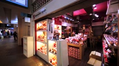 Many figurines in souvenirs shop in Kuala Lumpur downtown. Malaysia Stock Footage
