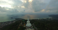 Karon beach behind big Buddha Stock Footage