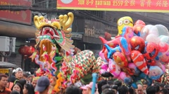 Chinese New Year celebrations Stock Footage