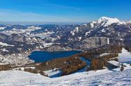 Mountains ski resort St. Gilgen Austria Stock Photos