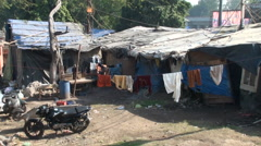 Shacks of the poor gypsies Stock Footage