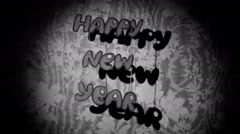 The inscription Happy New Year in the background. Retro new year Stock Footage