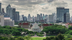 Timelapse of Chulalongkorn university building with cloud moving and sunlight Stock Footage