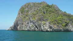 View on rocks of Phi Phi Island from boat Stock Footage