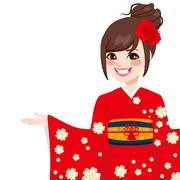 Asian Japanese Woman Stock Illustration