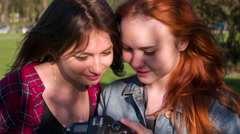Girls in Sunny Park HD Pro Stock Footage