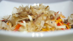 Udon noodles with sea food Stock Footage
