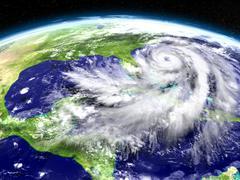 Hurricane Matthew approaching Florida Stock Illustration