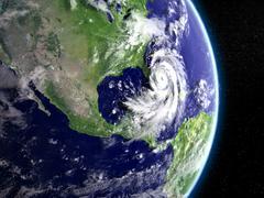 Hurricane above Florida Stock Illustration