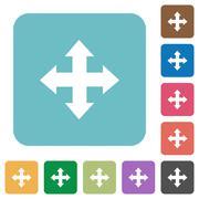 Flat move arrows icons Stock Illustration