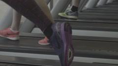 Gym Treadmills Feet Legs Running Walking Stopping Arkistovideo