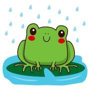 Cute Frog Smiling Stock Illustration