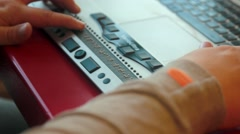 Braille machine / device Stock Footage