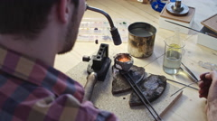 Goldsmith at Work Stock Footage