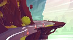 Canyon Road. Stock Illustration