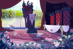 Queen's palace interior Stock Illustration