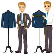 Tailor Measuring Bust Stock Illustration