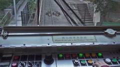 Peak tram control panel in Hong Kong Stock Footage