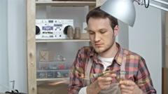 Jeweler Heating Metal Stock Footage