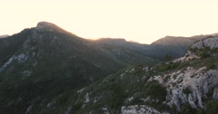 Aerial shot of marbella Mountains and beautiful view. Stock Footage