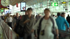 Passangers on the airport Stock Footage