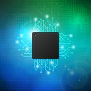 Abstract circuit board vector background Stock Illustration
