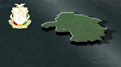 Labe with Coat Of Arms Animation Map Stock Footage