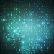 Internet wireless computer digital data code background Piirros