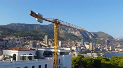 Panoramic View of the Principality of Monaco Stock Footage
