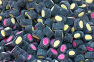 Chewy candy covered licorice Stock Photos