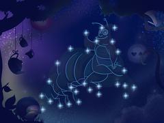 Kids Book Illustration. Star Constellation. Stock Illustration