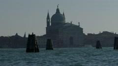 Chiesa San GIorgio Maggiore basilica in Venice Italy Stock Footage