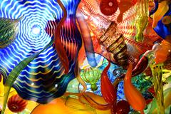 Glass artwork by artists Dale Chihully Stock Photos