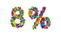 Colorful spheres in the shape of eight percent Stock Footage