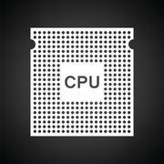 CPU icon Stock Illustration