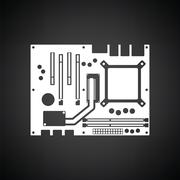 Motherboard icon Stock Illustration